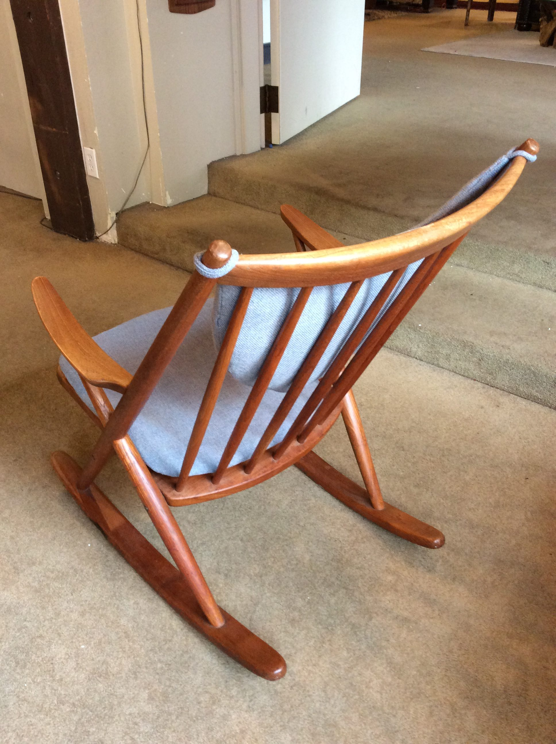 austrian frame rainer mid roland with beech listings architect century vinterior midcentury rocking chair by
