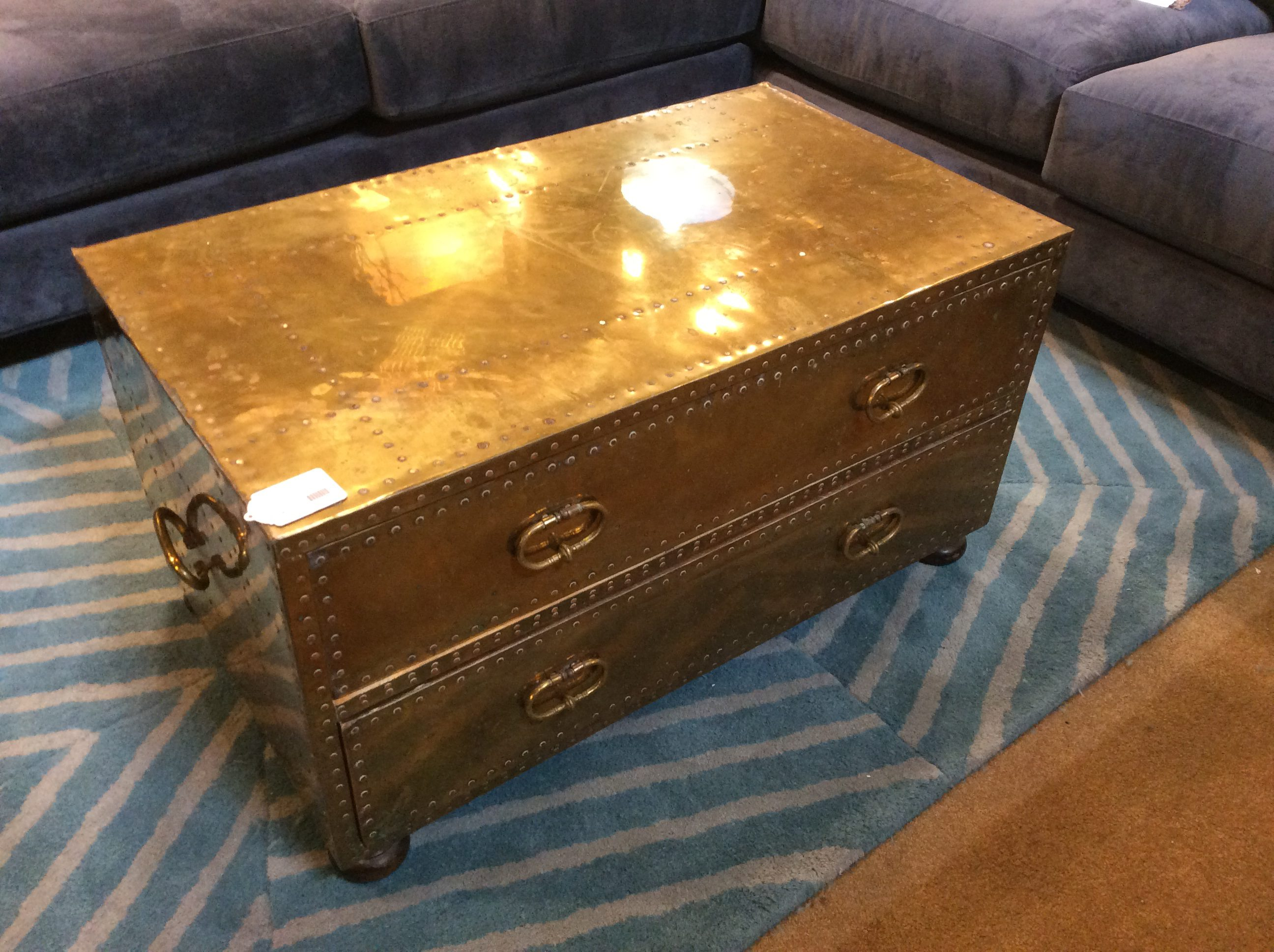Vintage Brass Coffee Table SOLD