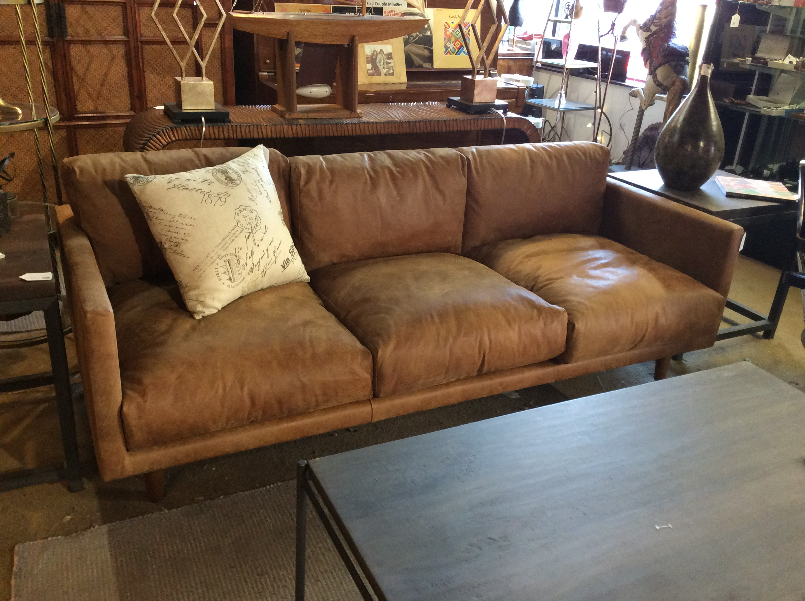 sofas leather couch top tan classic sydney sofa