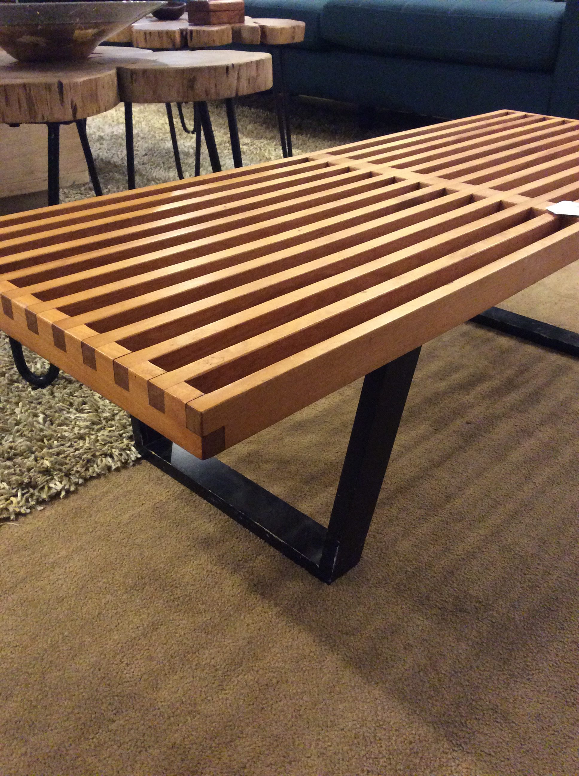 large pin sturdy on herman group woods this eames office bench designed line set ash a table top and ray oval s wood base features miller aluminum charles for