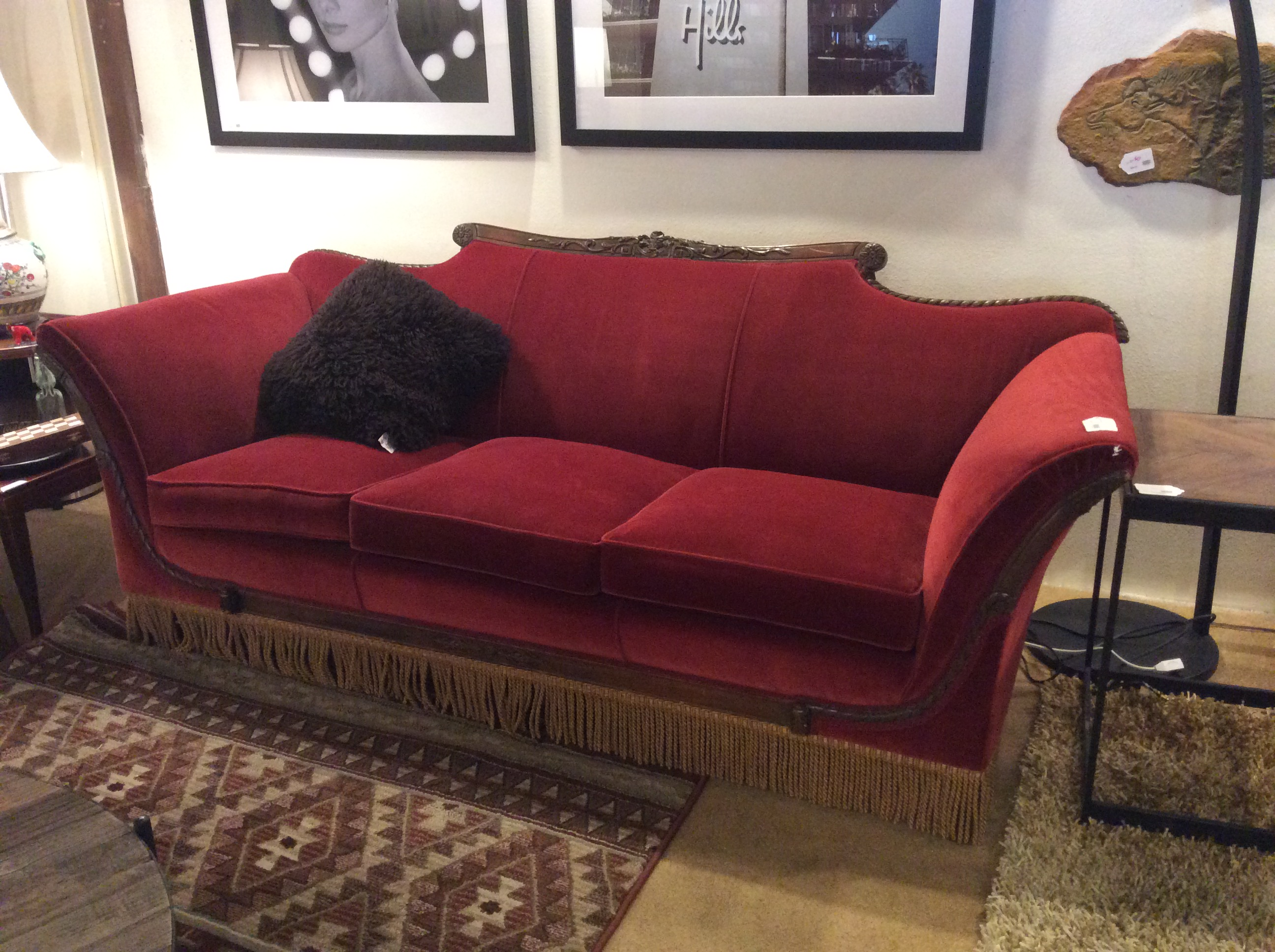 Antique Velvet Sofa Sold