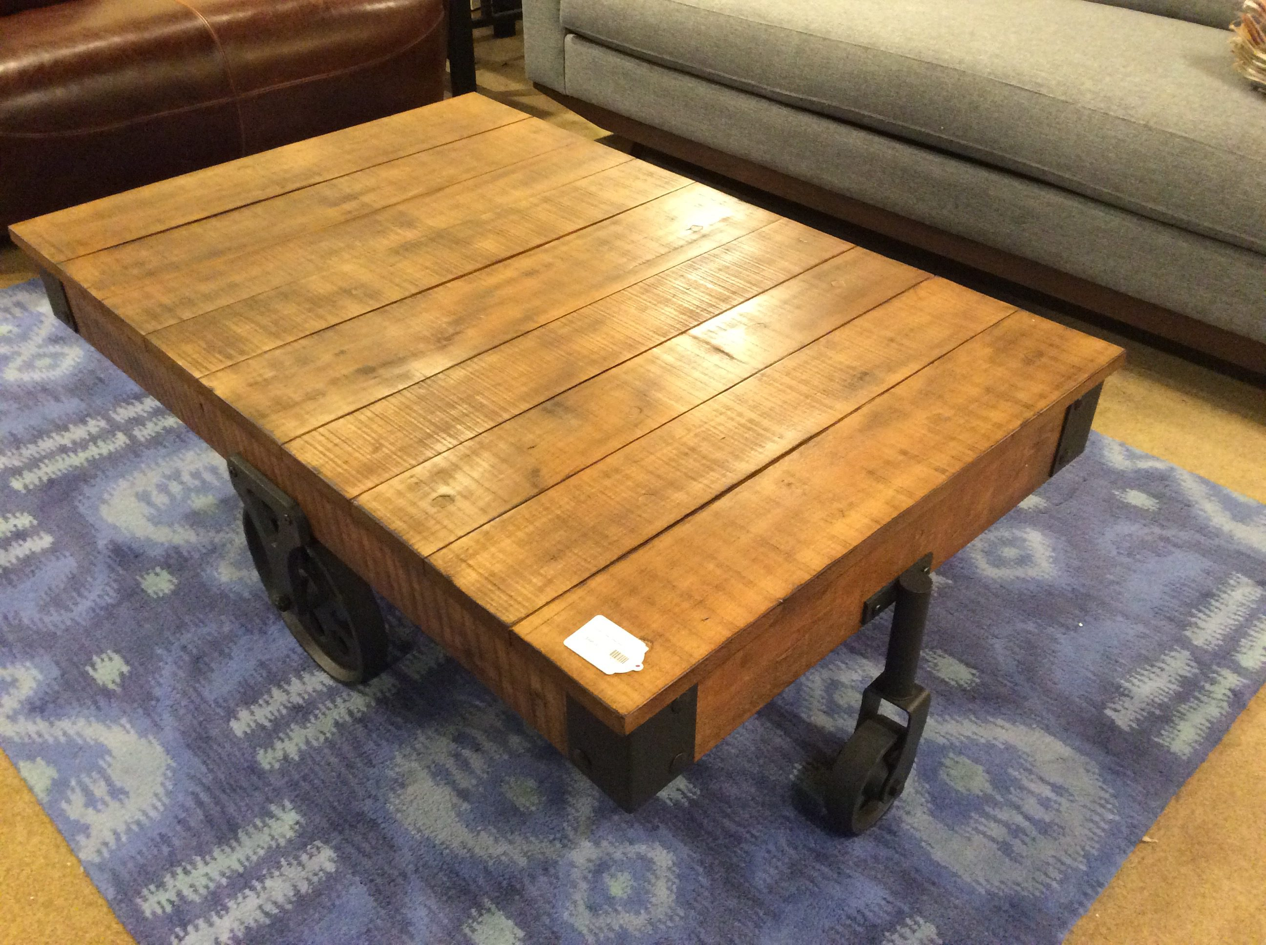 Superbe Industrial Wheeled Coffee Table. Tonsu Chest SOLD