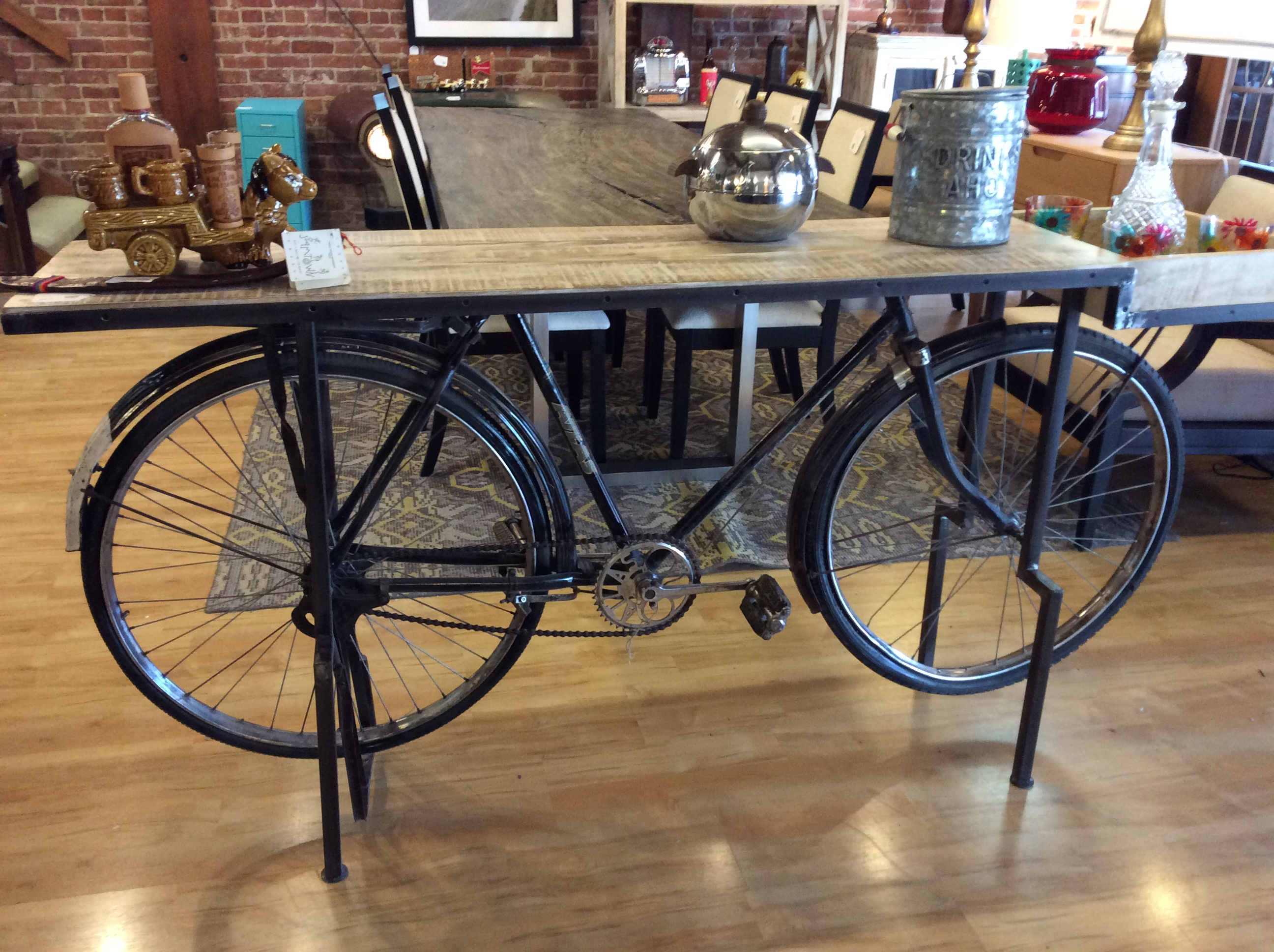 Vintage Bicycle Console Sold Ballard Consignment