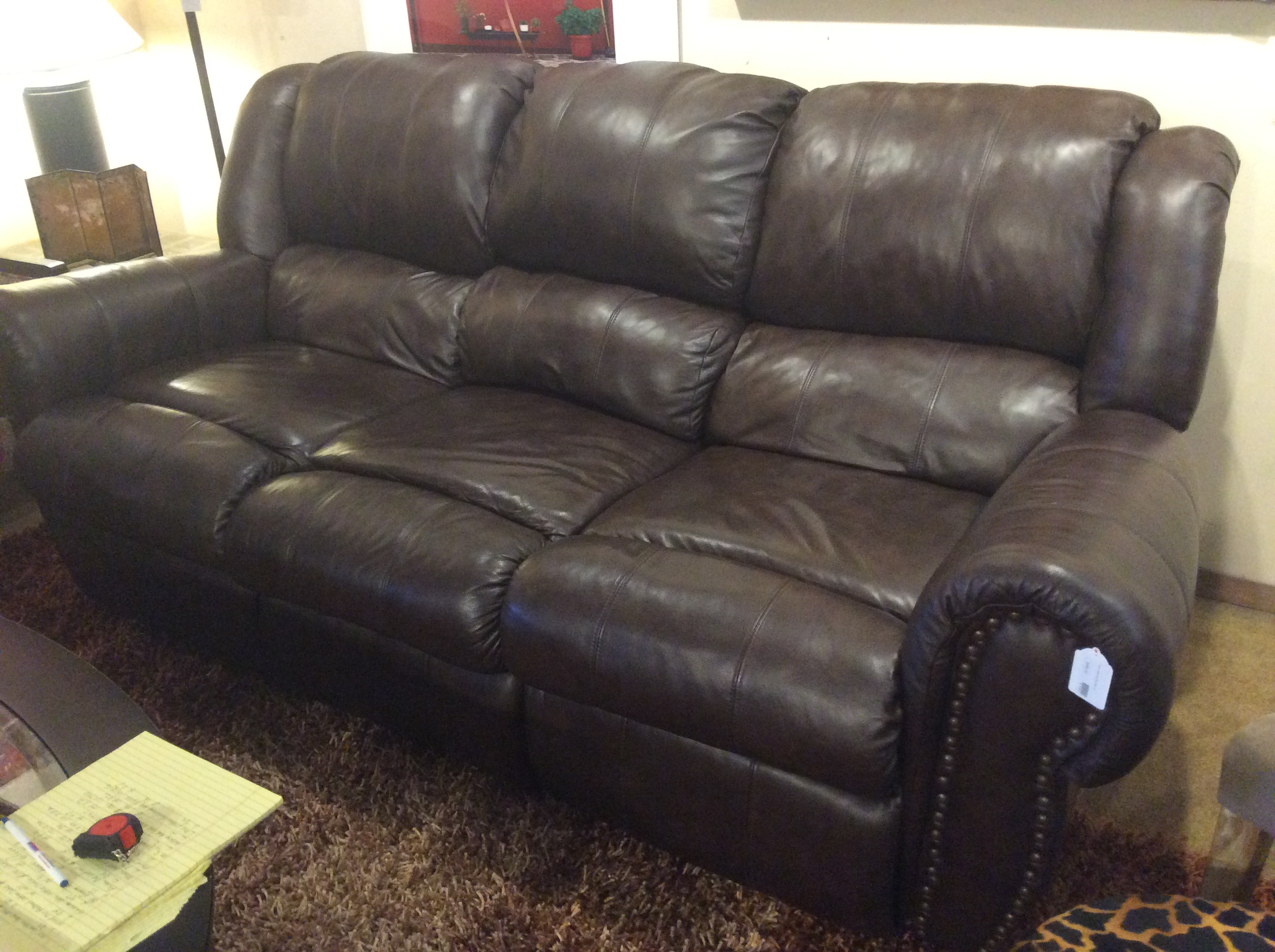 Lane Leather Recliner Sofa Sold