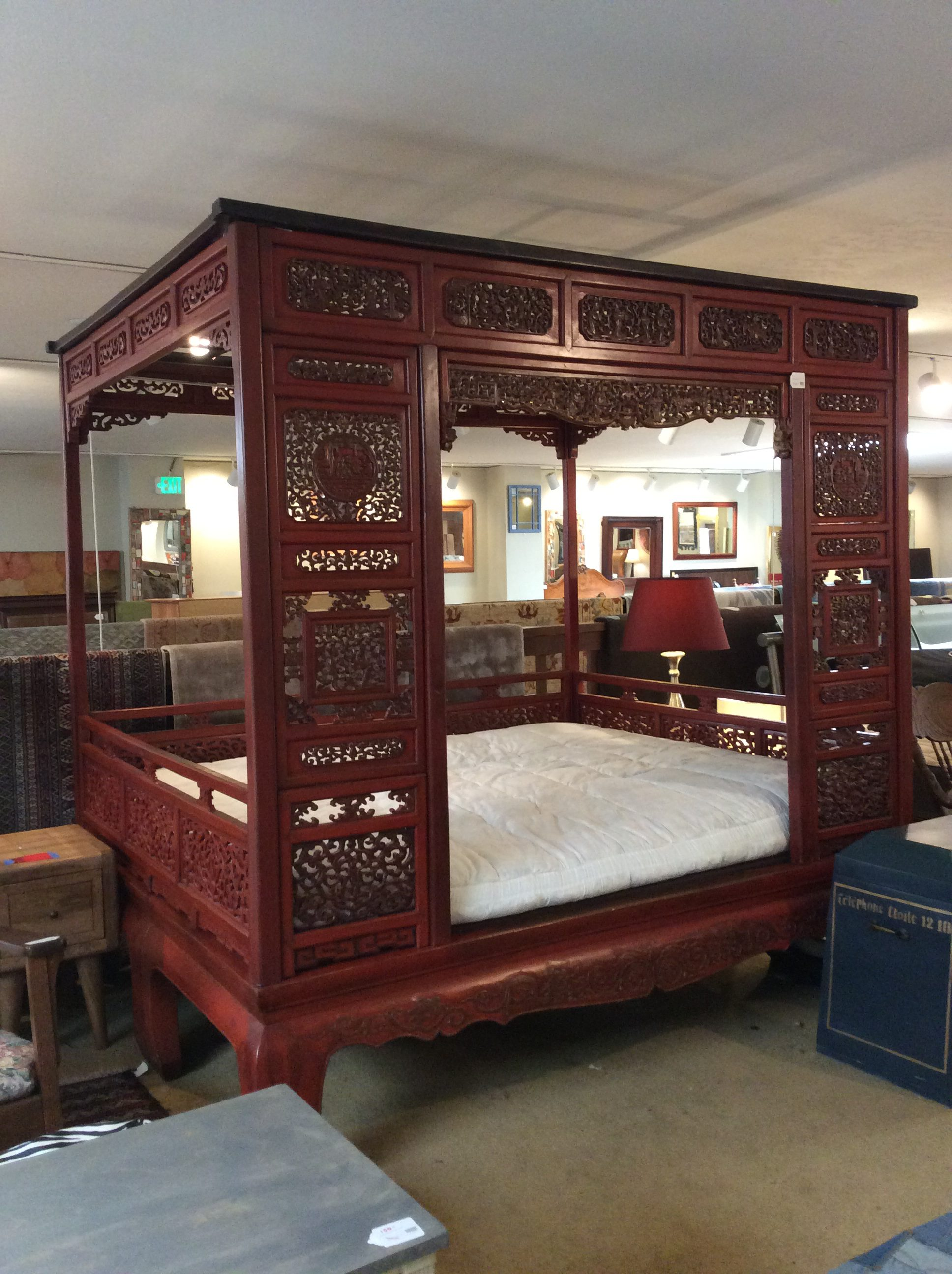 Chinese Wedding Bed Sold Ballard Consignment