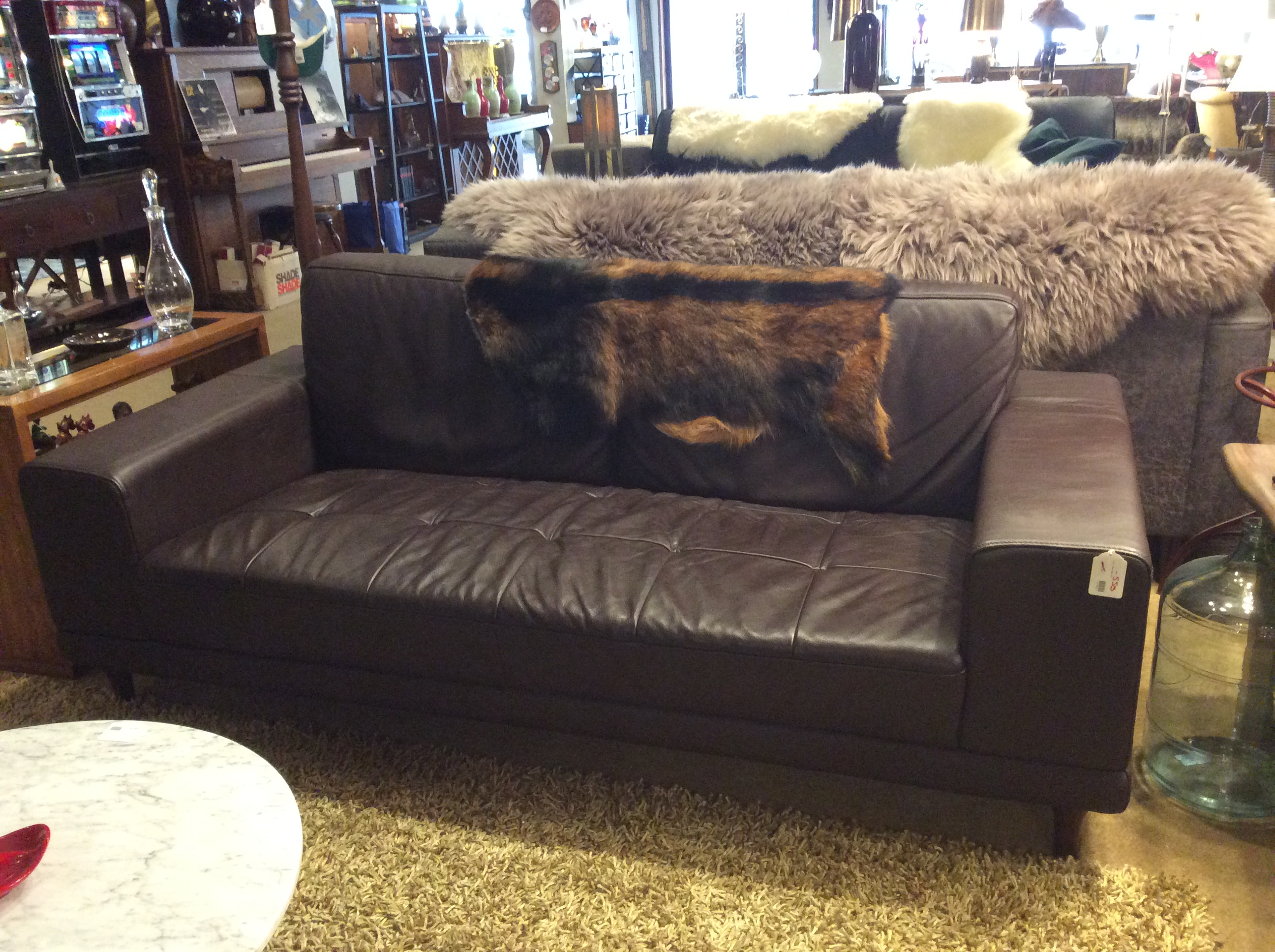 Brown Tufted Sofa SOLD