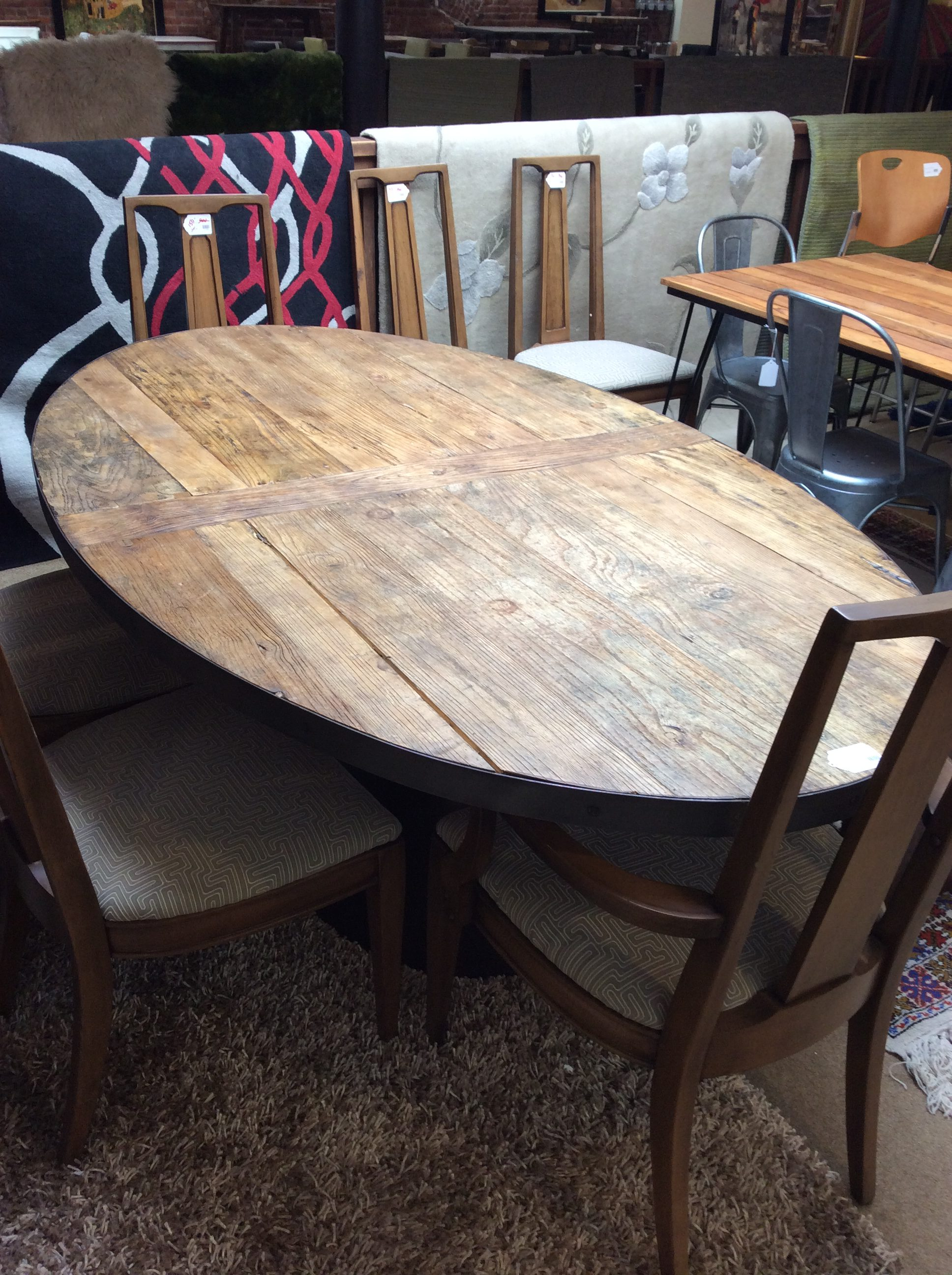 Oval Rustic Dining Table Sold