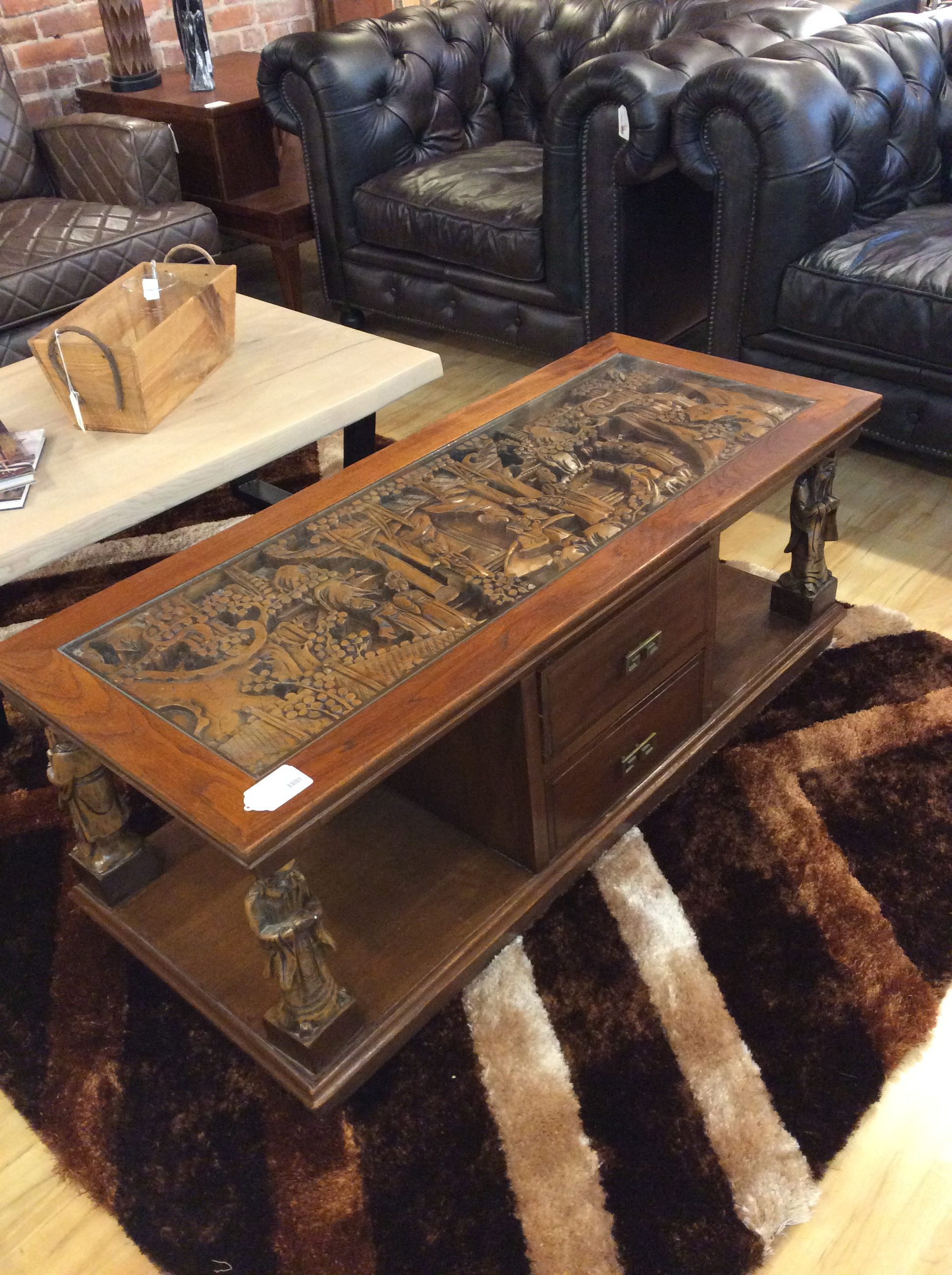 - Asian Carved Coffee Table SOLD – Ballard Consignment