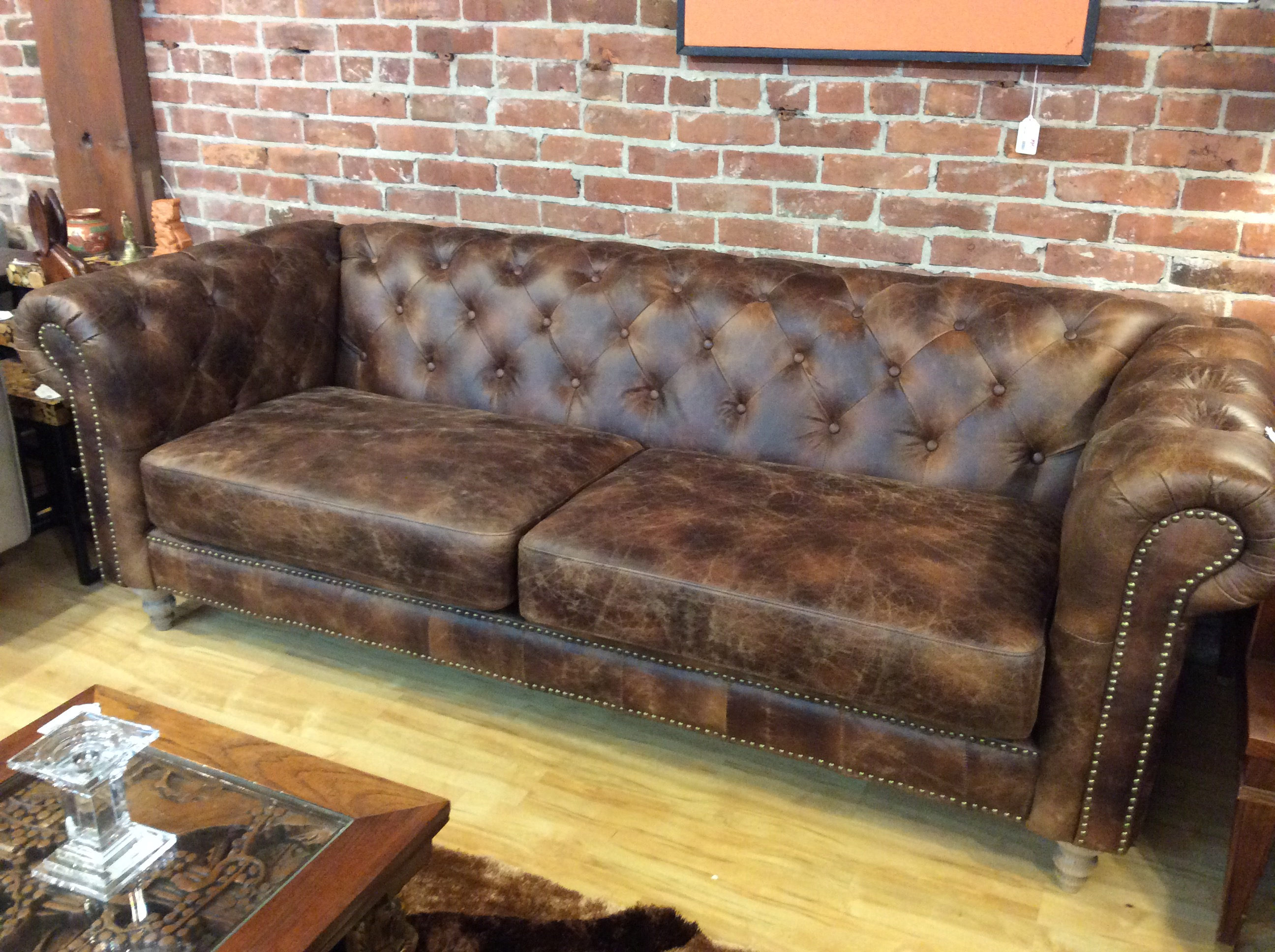 Prime Leather Chesterfield Sofa Sold Unemploymentrelief Wooden Chair Designs For Living Room Unemploymentrelieforg