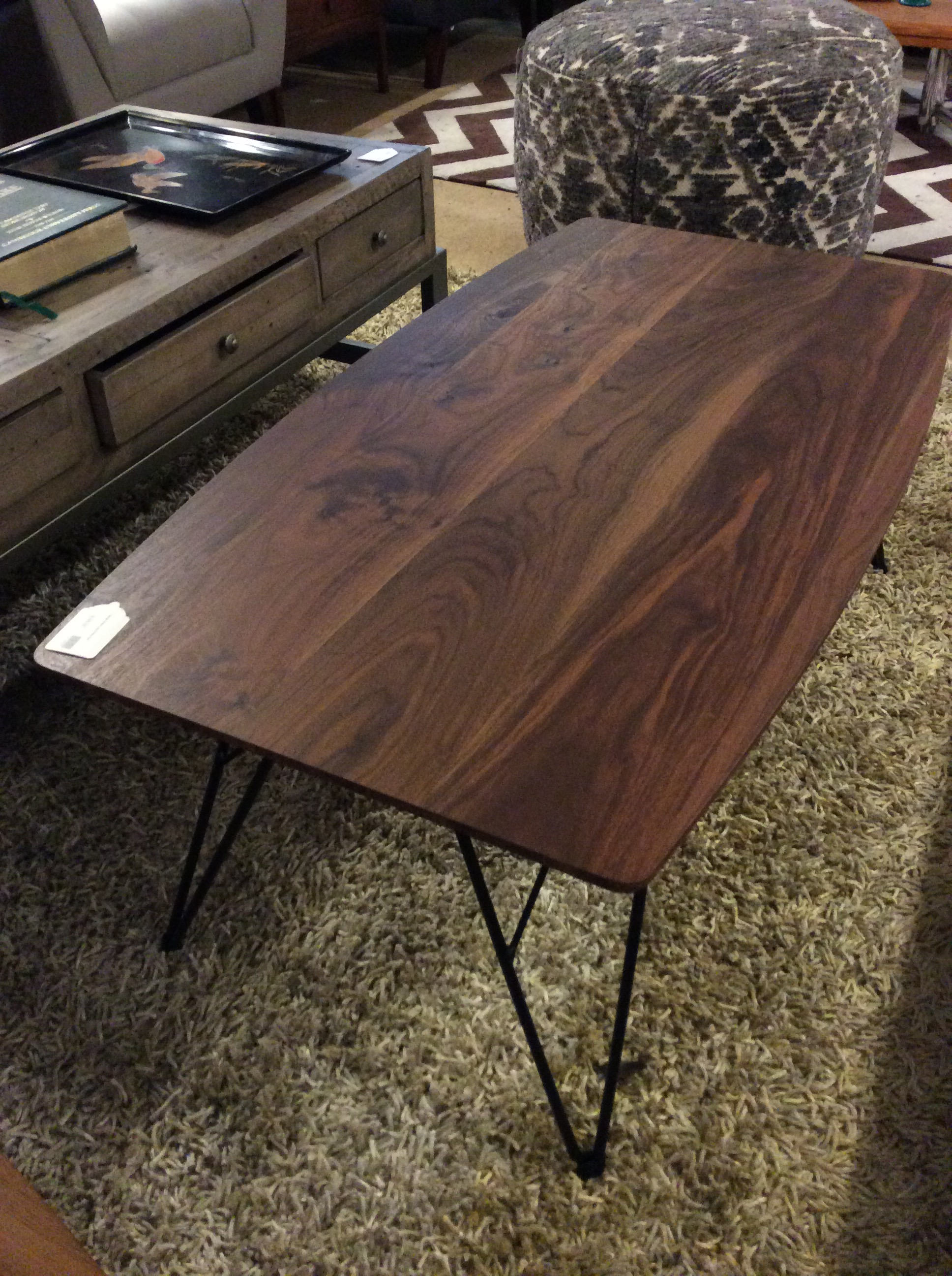 Modern Hairpin Leg Coffee Table Sold Ballard Consignment