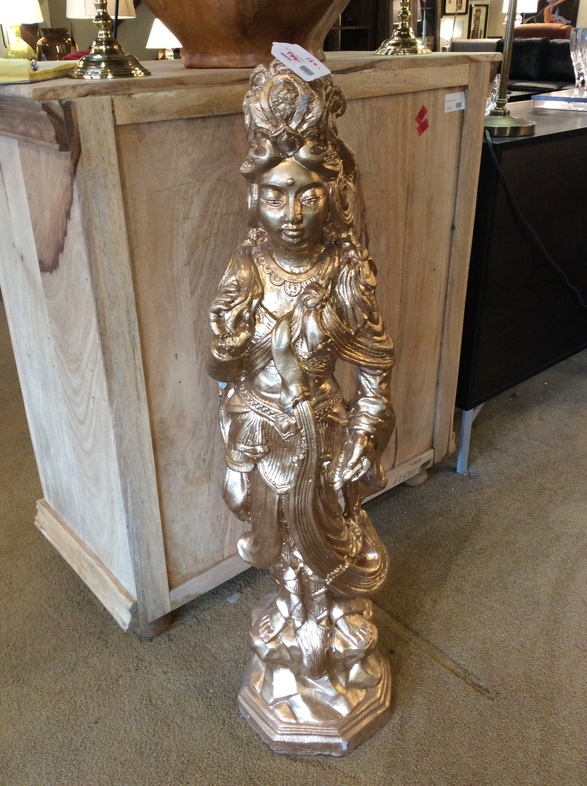 Gold Painted Indian Statue Ballard Consignment
