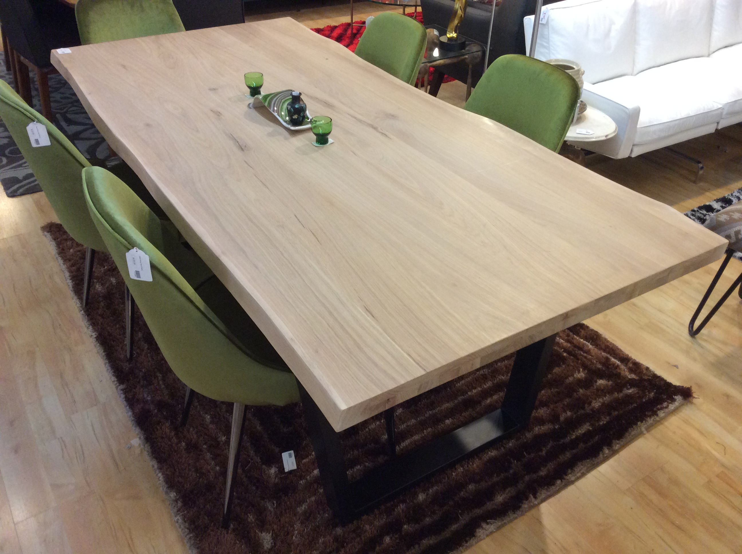 White Oil Live Edge Dining Table Large Ballard Consignment