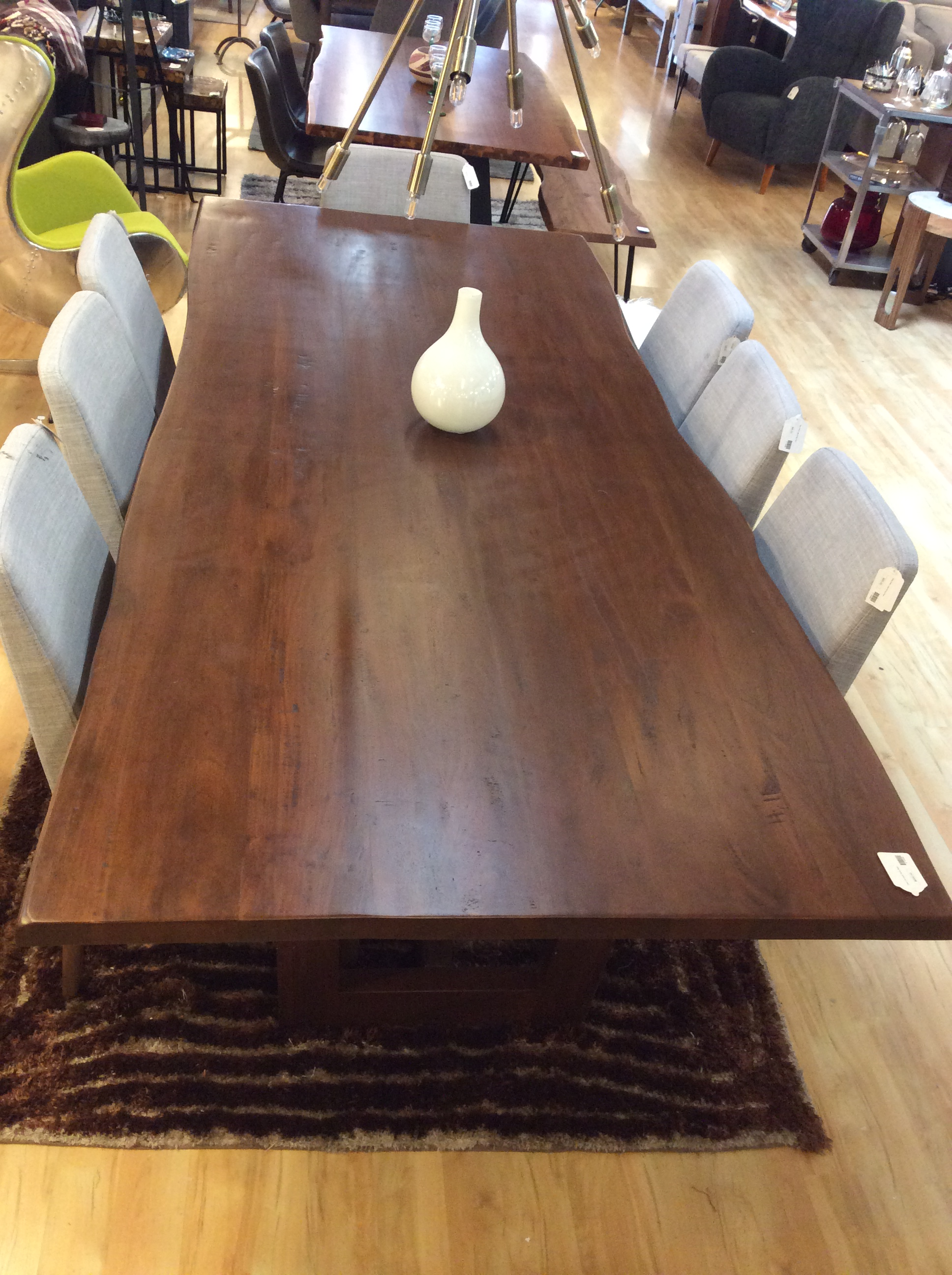 Dark Live Edge Dining Table Ballard Consignment