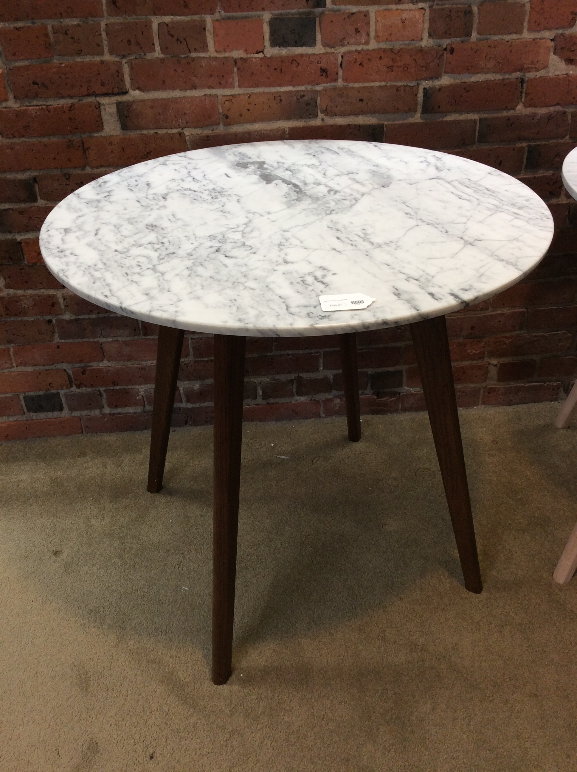 Marble Round Dining Table Ballard Consignment