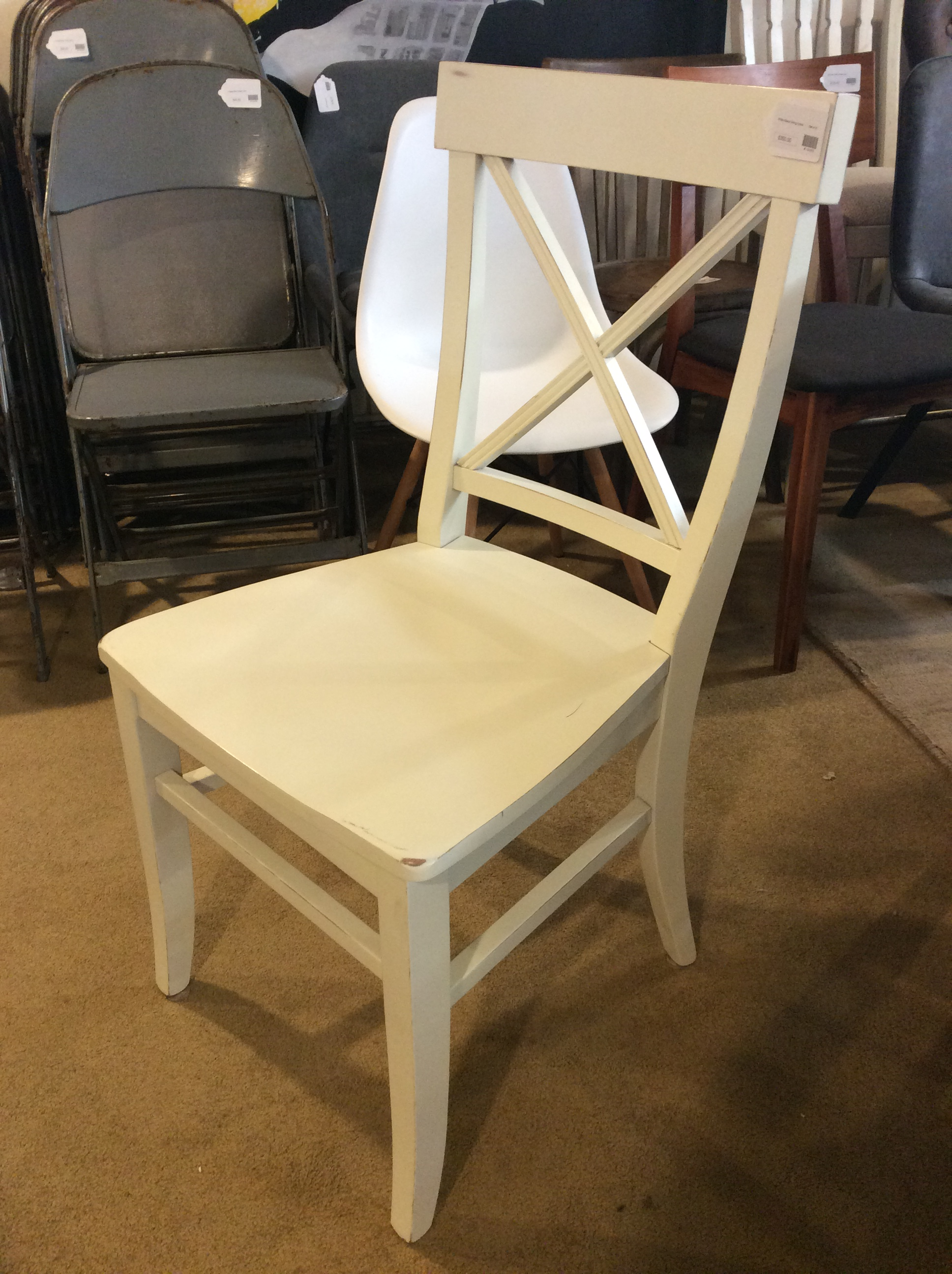 Brilliant White X Back Dining Chairs Set 4 Sold Ibusinesslaw Wood Chair Design Ideas Ibusinesslaworg