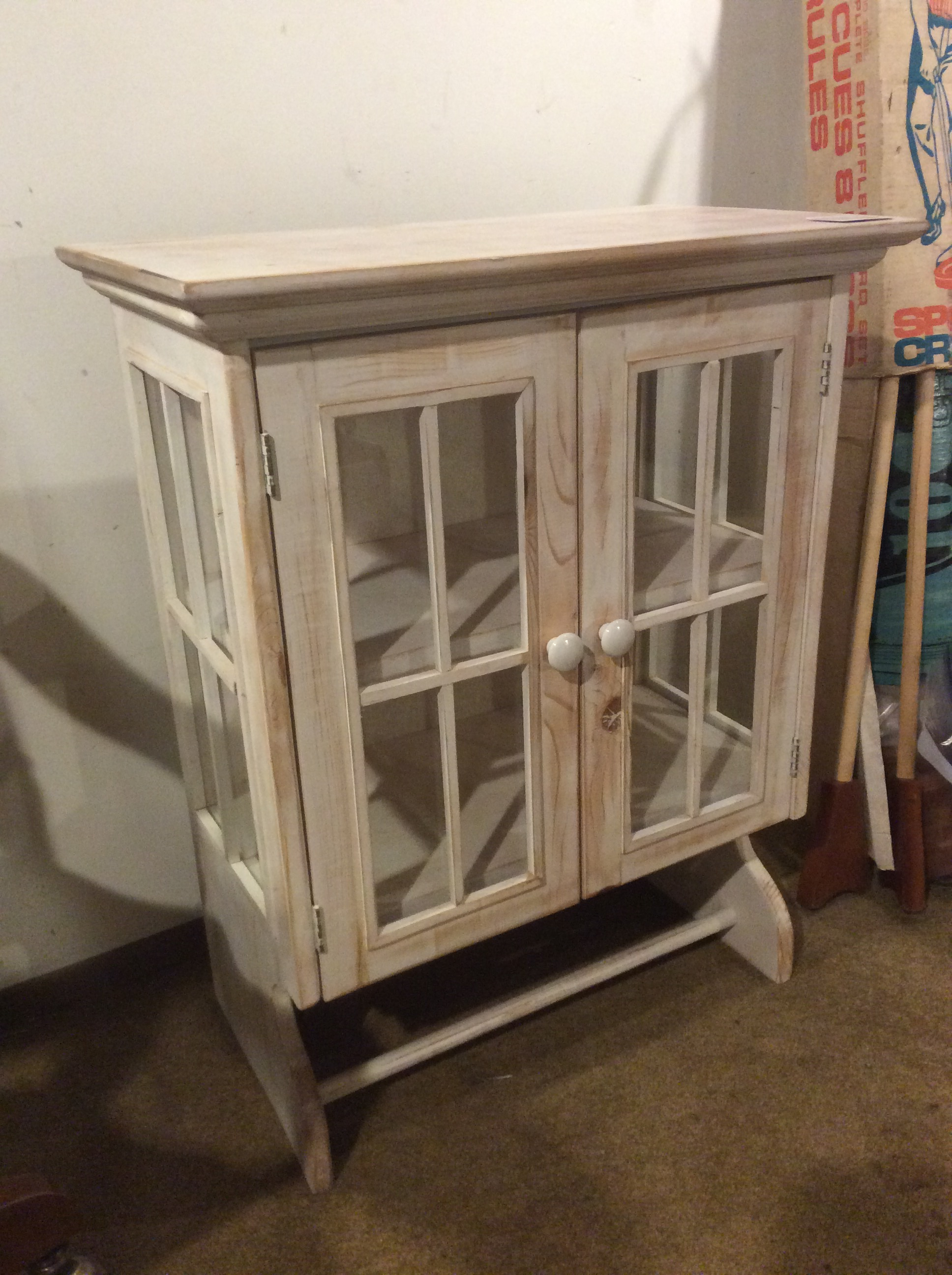 Whitewash Wood Cabinet Sold