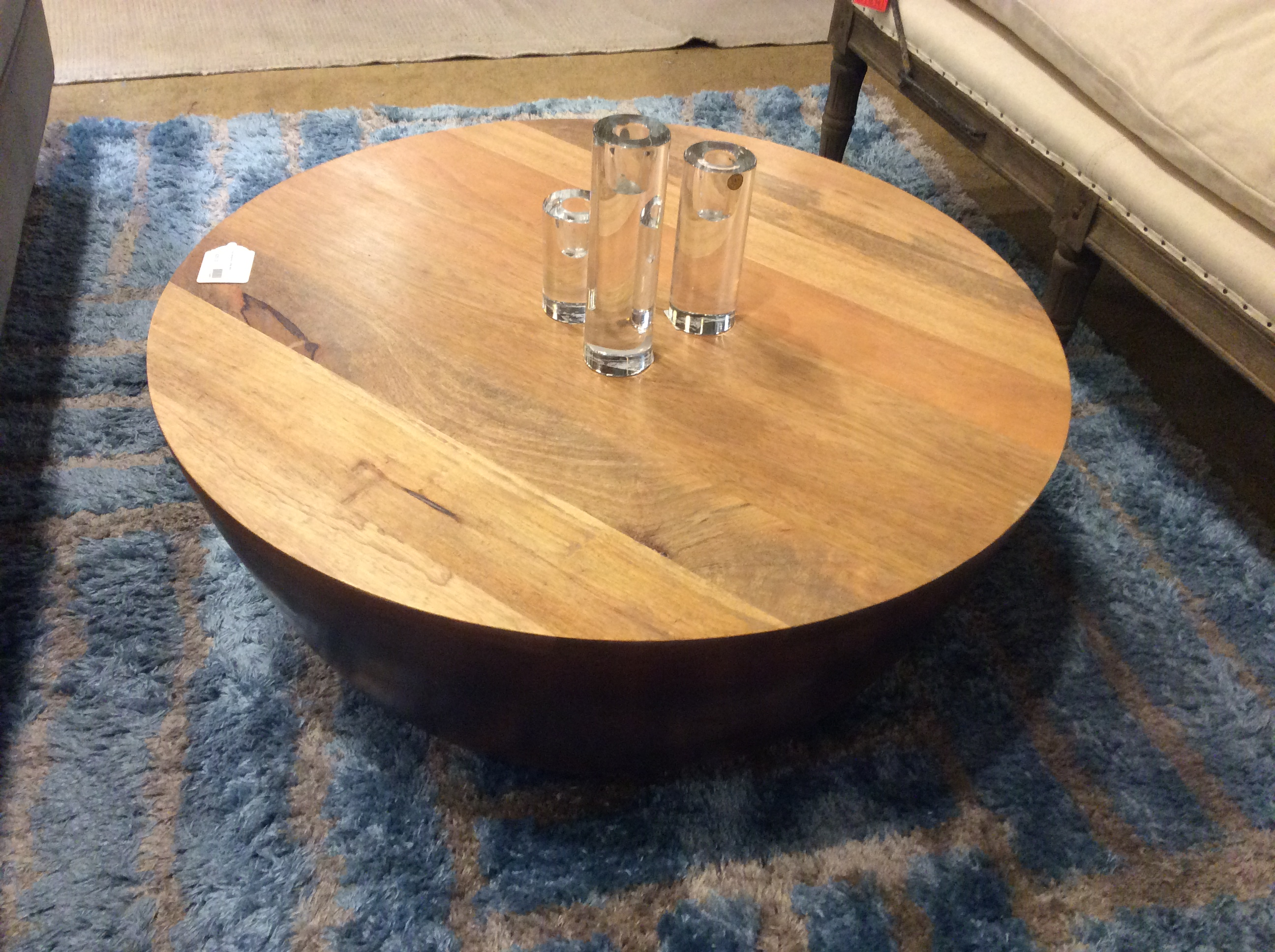 Drum Mangowood Coffee Table Sold Ballard Consignment