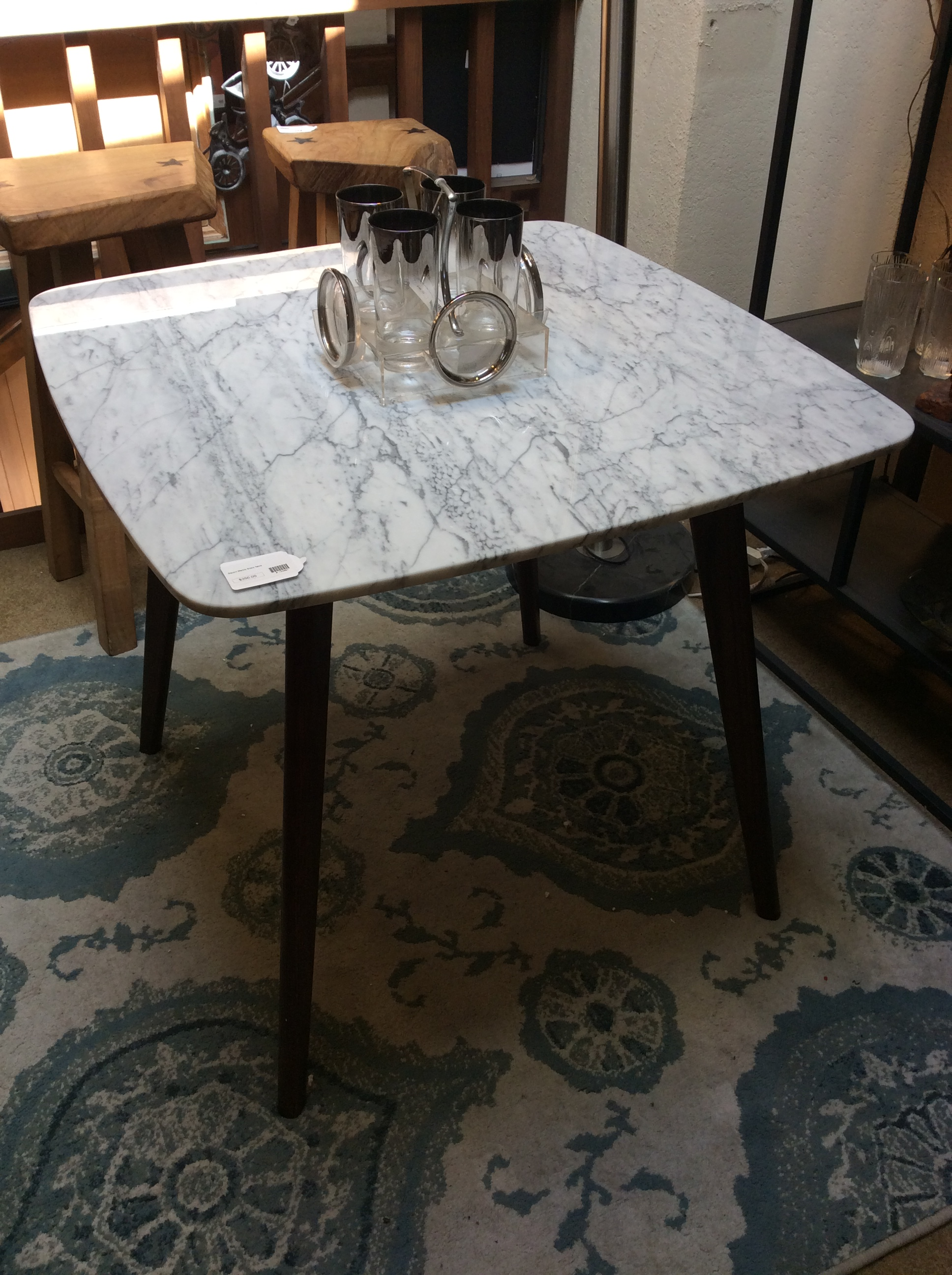 Square Marble Dining Table Ballard Consignment