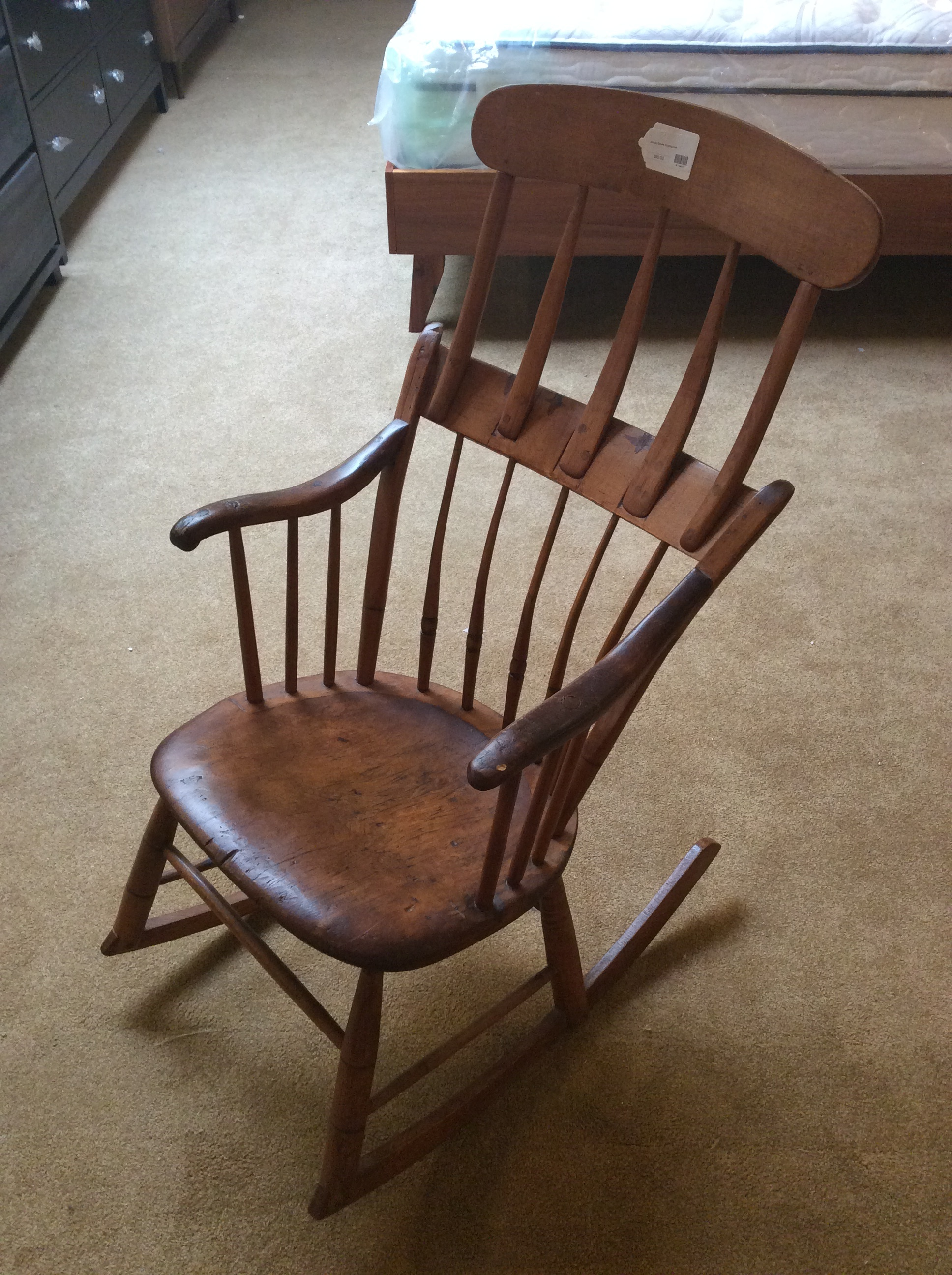 Antique Spindle Rocking Chair Sold Ballard Consignment