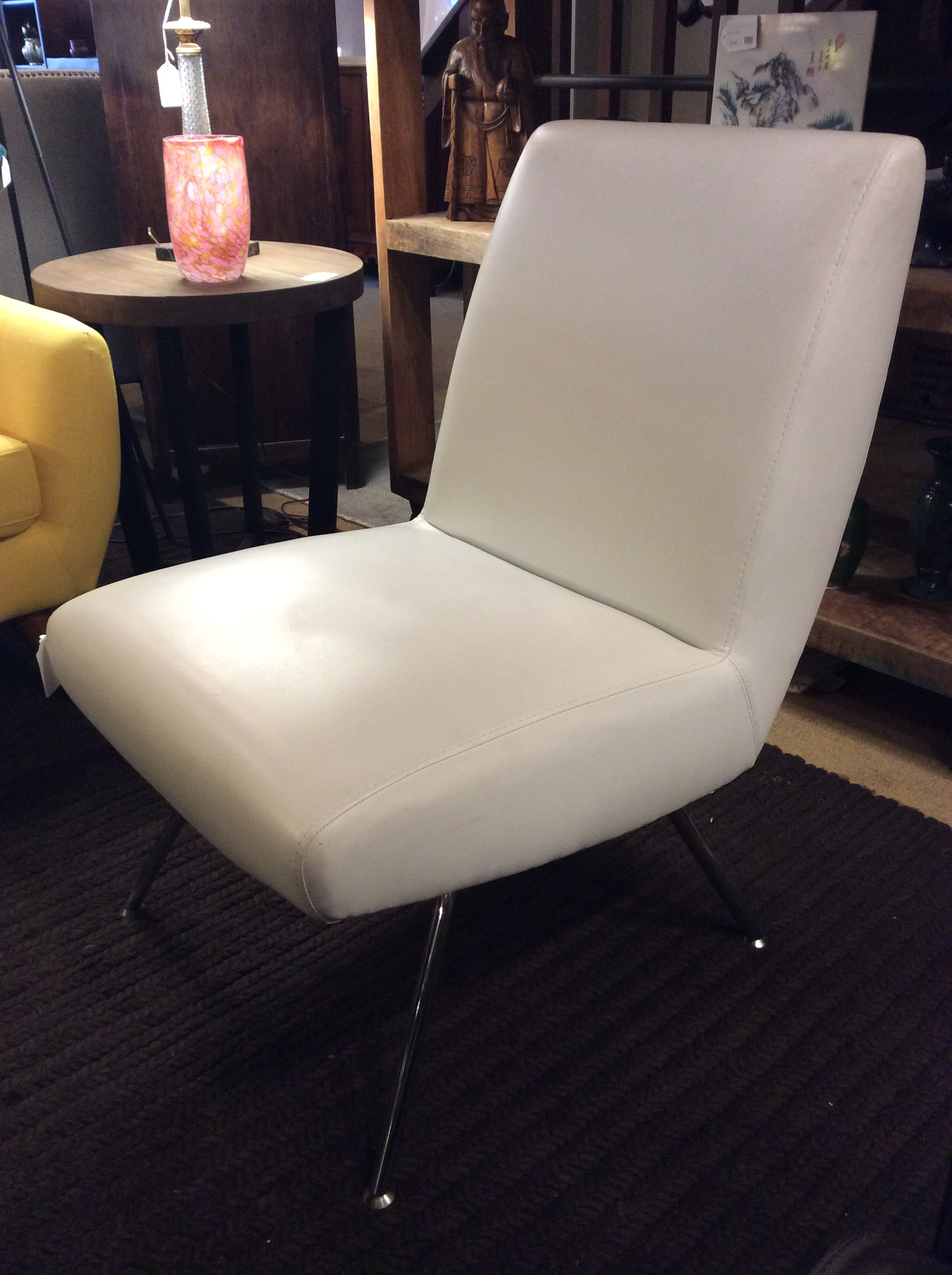 White Mod Armless Chair Sold