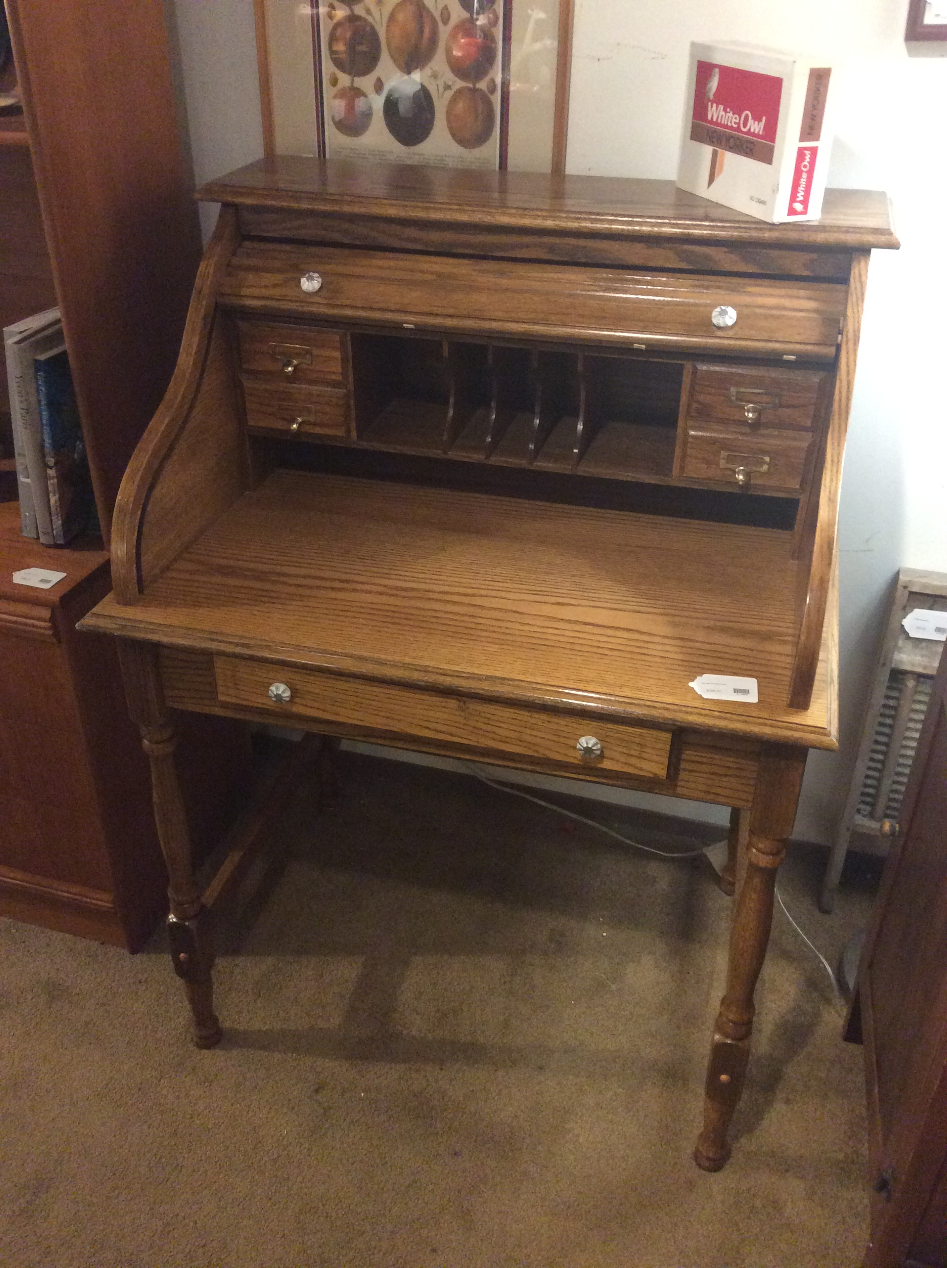 Fantastic Vintage Oak Secretary Desk Sold Home Interior And Landscaping Mentranervesignezvosmurscom
