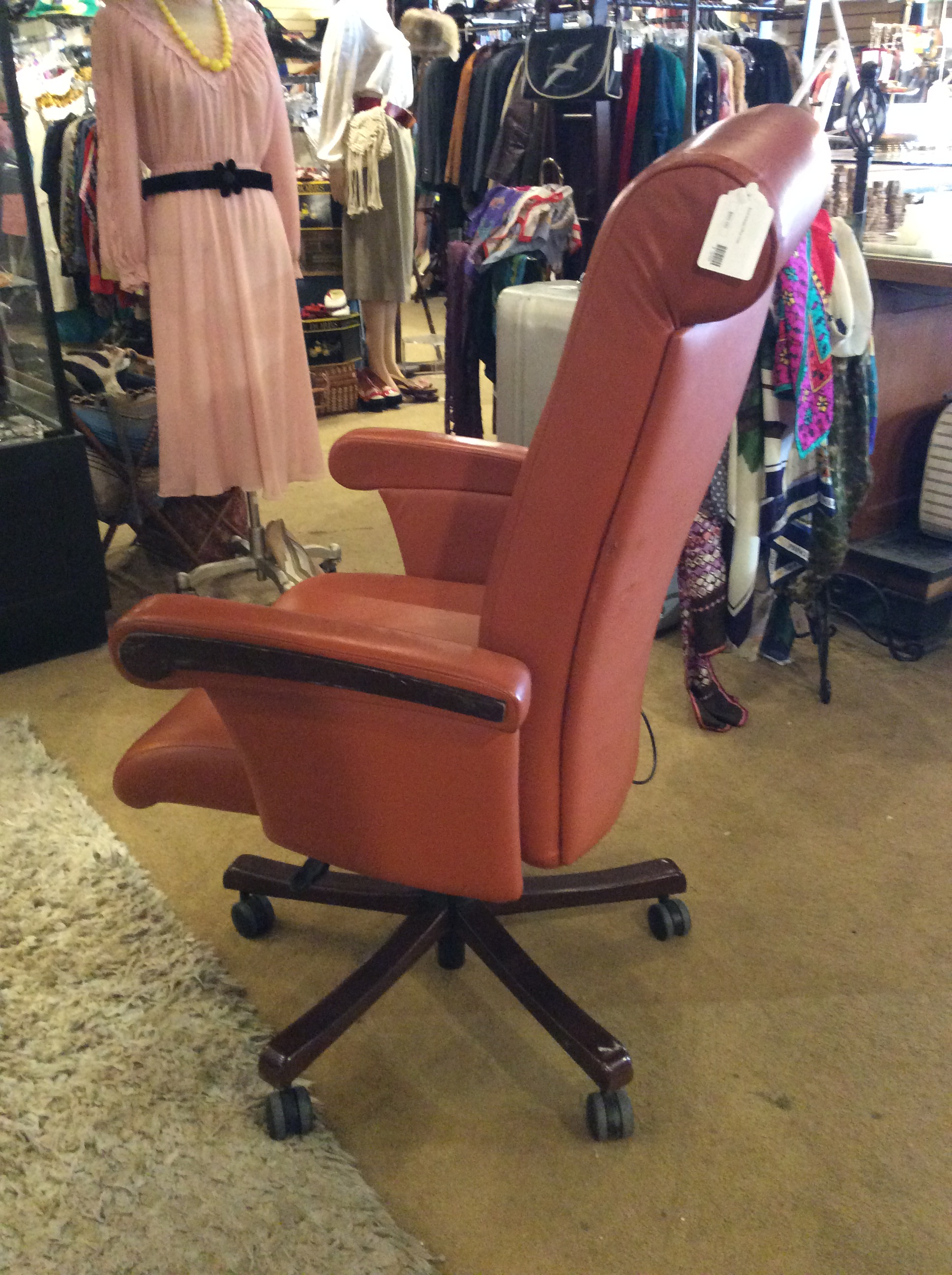 Burnt Orange Office Chair Sold Ballard Consignment
