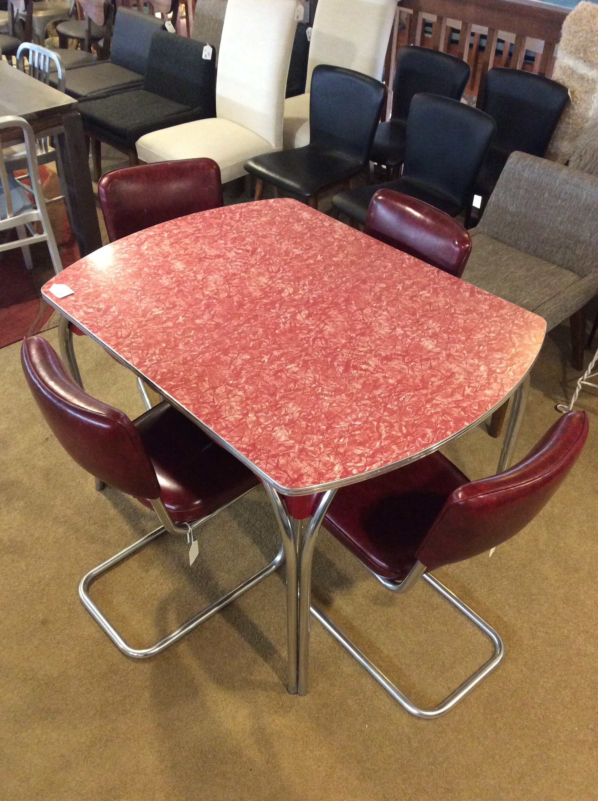 Red Retro Diner Table Sold Ballard Consignment