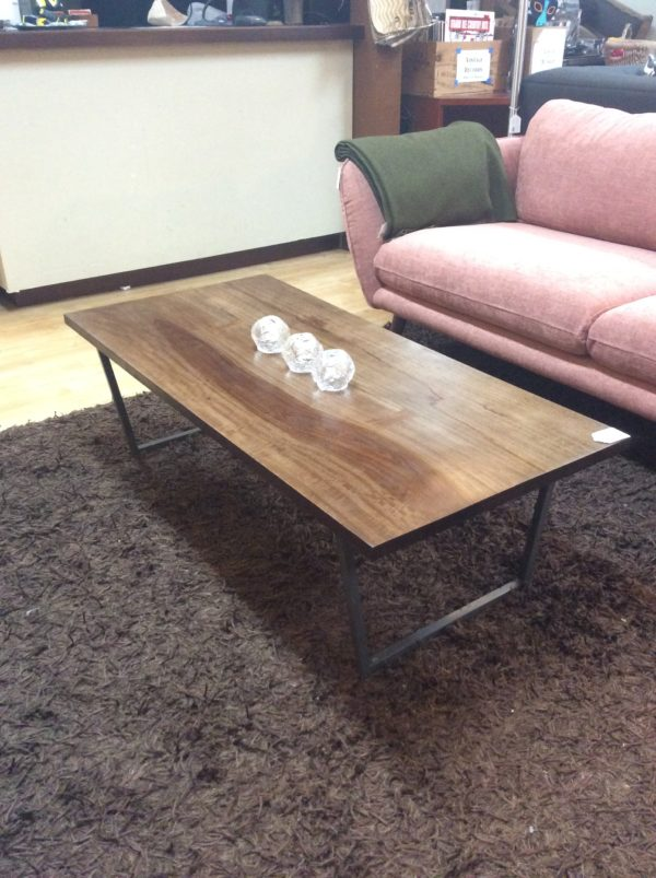 West Elm Wood Top Coffee Table Sold Ballard Consignment