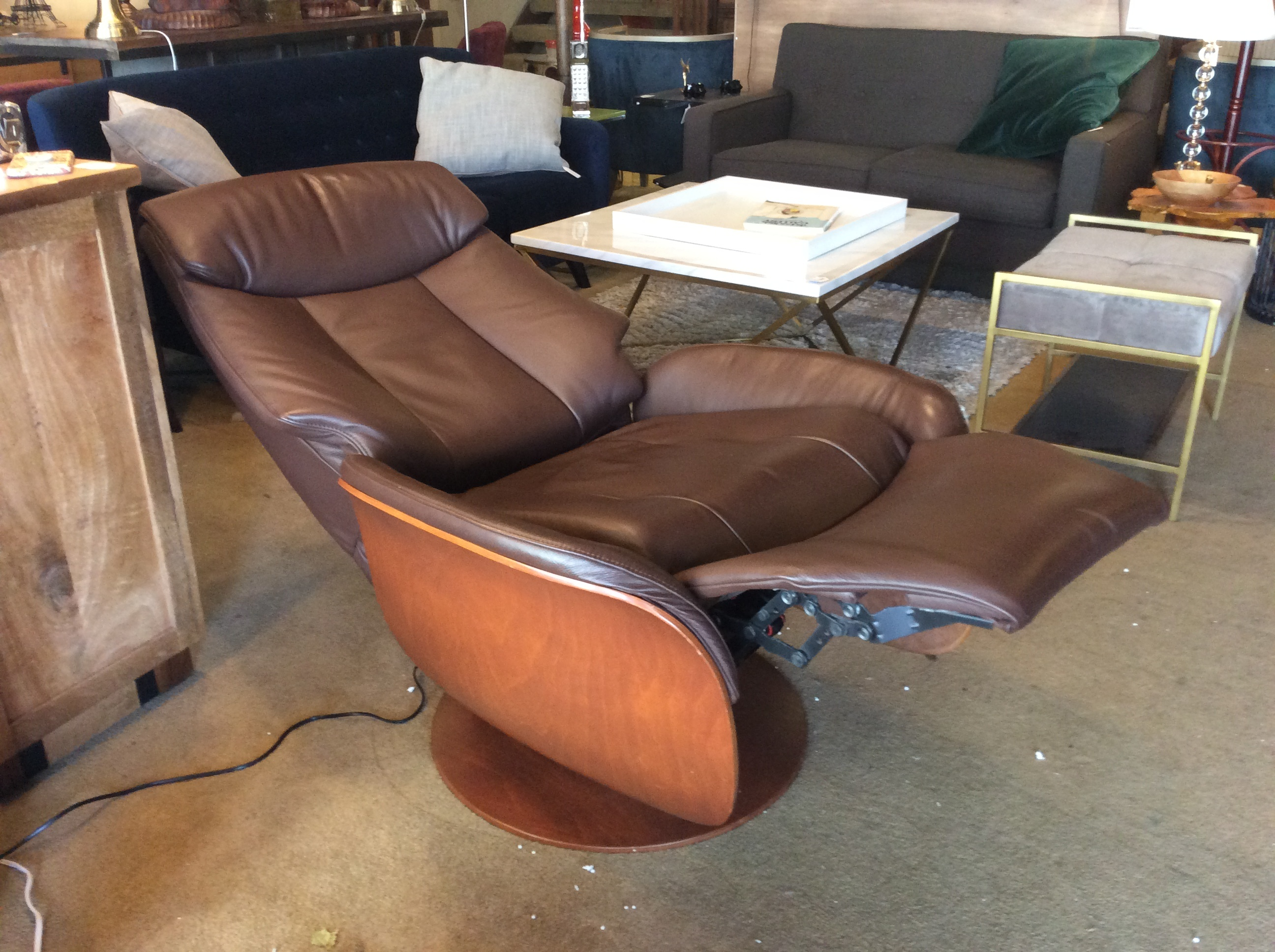 Dania Electric Leather Recliner Ballard Consignment