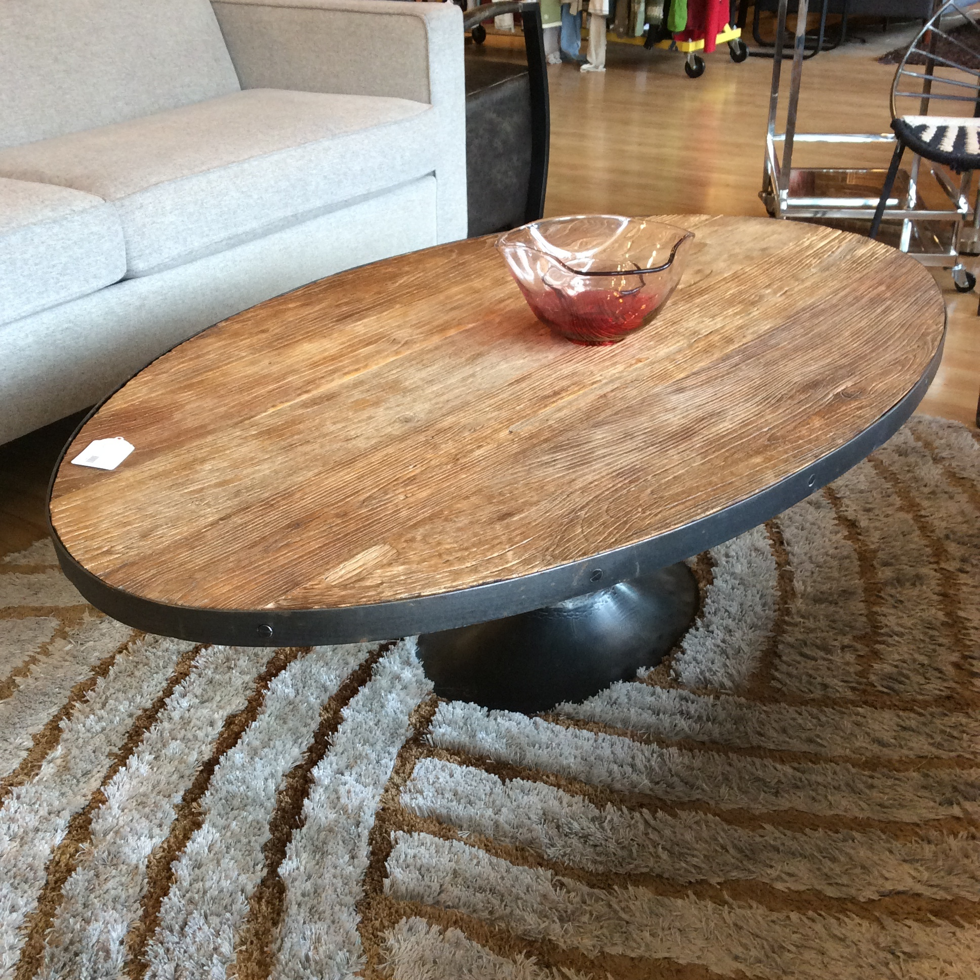 - RH Rustic Oval Tulip Coffee Table SOLD – Ballard Consignment