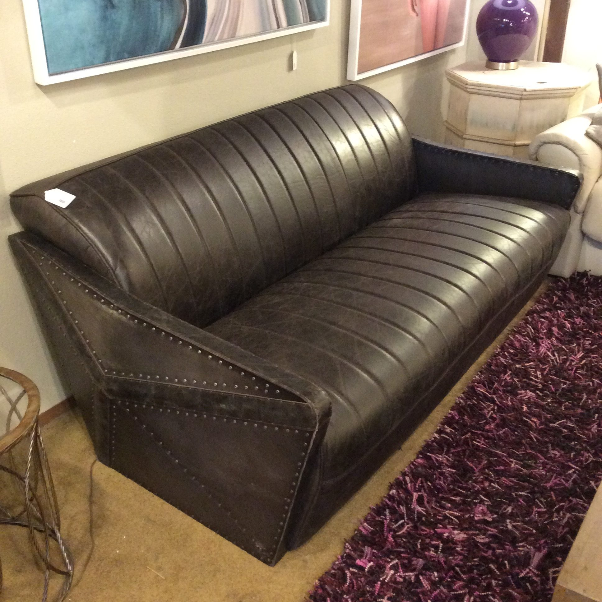 Moroccan Leather Sofa Ballard Consignment
