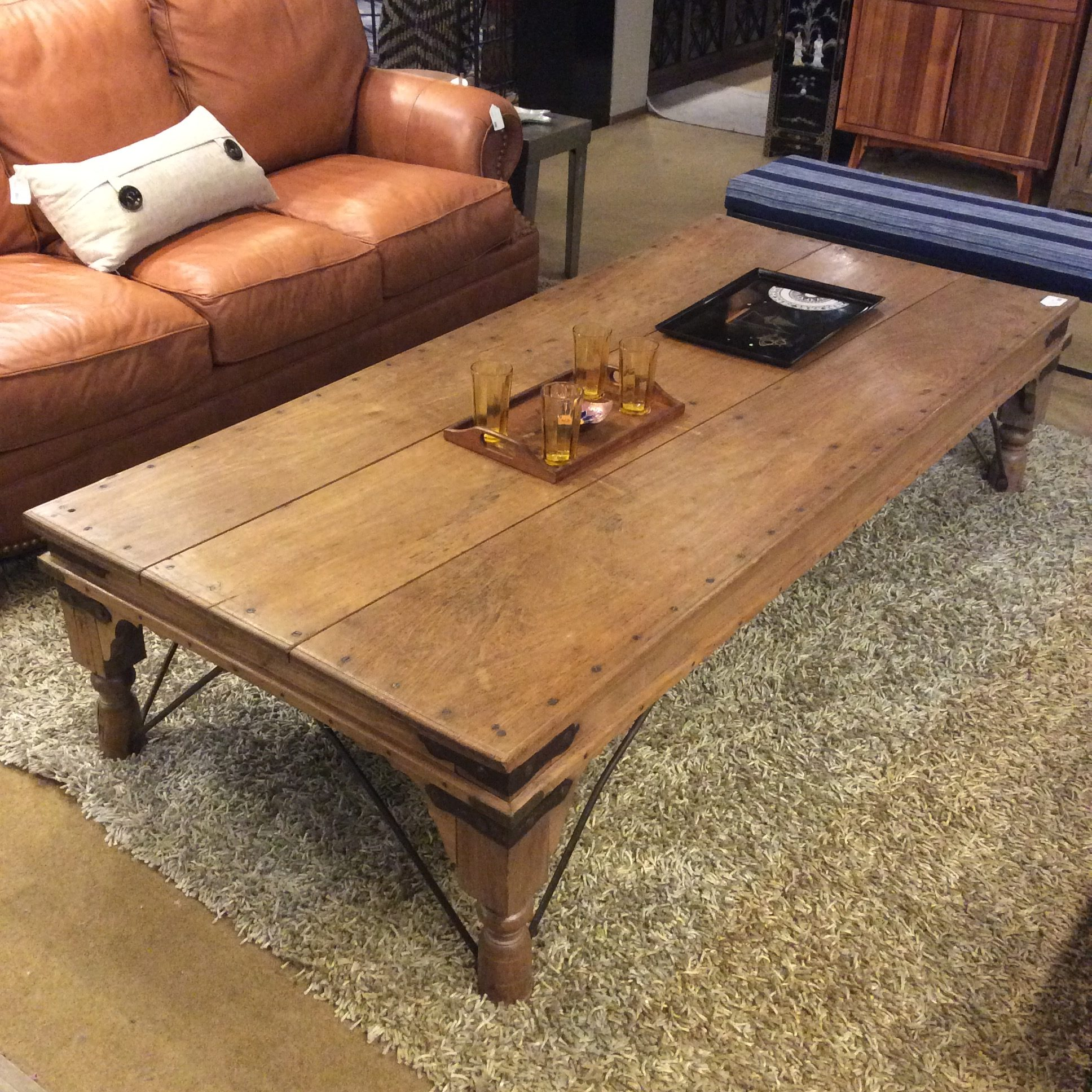 - LARGE Rustic Wood Coffee Table – Ballard Consignment