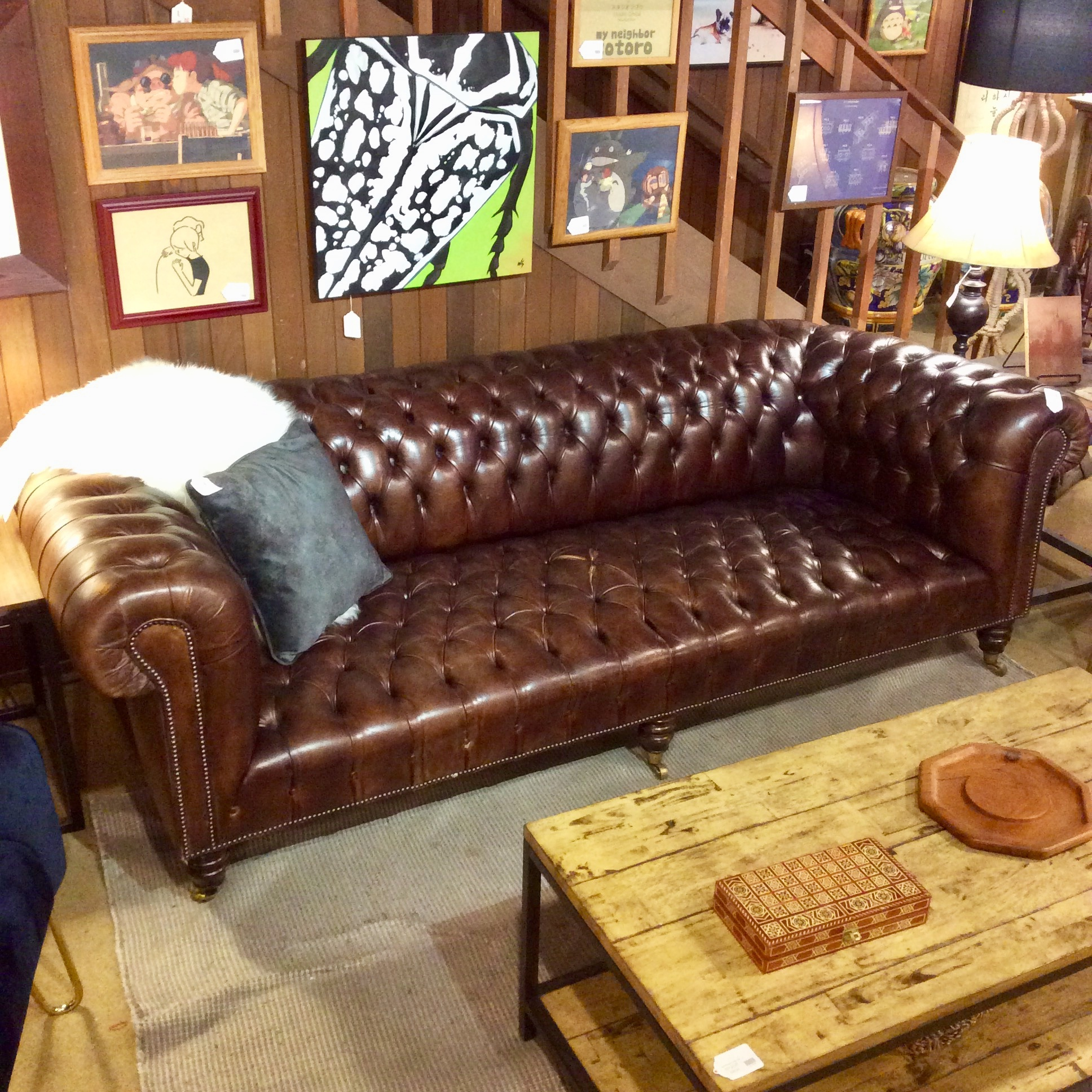 - Brown Italian Leather Chesterfield Sofa (As Is) – Ballard Consignment